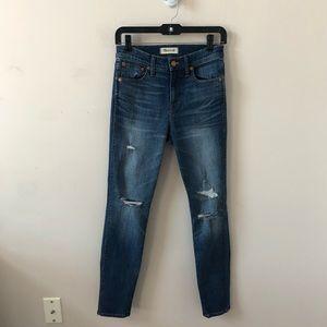 Madewell HIgh Rise Skinny Skinny Blue Jean-Size 26